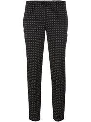 P.A.R.O.S.H. Jacquard Cropped Trousers Black
