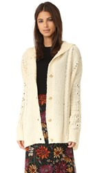 Wildfox Couture Cable Blanket Hoodie Marled Vanilla Latte
