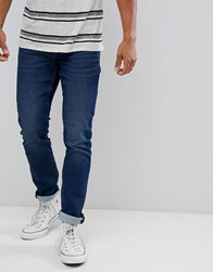 Only And Sons Slim Fit Jeans With Washed Detail In Mid Blue Blue Denim