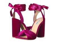 Steve Madden Clary V Magenta Velvet Women's Shoes Purple