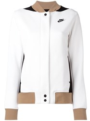 Nike Tri Colour Varsity Jacket White