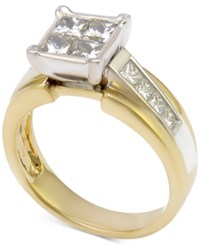 Macy's Diamond Engagement Ring 1 1 2 Ct. T.W. 14K Gold And White Gold Two Tone