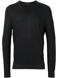 Ermenegildo Zegna V Neck Jumper Black