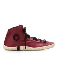 Osklen Leather Sneakers Red
