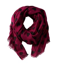 San Diego Hat Company Bss1404 Heart Print Fabric Scarf Magenta Scarves Pink