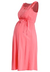 Mamalicious Mlsillo Summer Dress Sunkist Coral Red