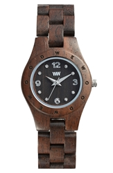 Wewood 'Moon Deneb' Wood Bracelet Watch 29Mm Chocolate