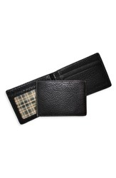 Boconi Men's 'Tyler Slimster' Tumbled Leather Wallet Black Black Green