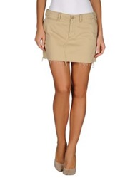 Denim And Supply Ralph Lauren Mini Skirts Ivory