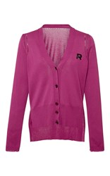 Rochas Cotton Cardigan With Logo Detail Pink