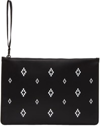 Marcelo Burlon County Of Milan Black And White All Over Cross Pouch