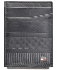 Tommy Hilfiger Men's Reed Magnetic Front Pocket Wallet Navy