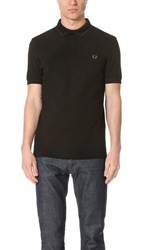 Fred Perry Tonal Textured Pique Shirt Black