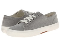 Lauren Ralph Lauren Jolie Grey Oxford Cloth Women's Lace Up Casual Shoes Gray