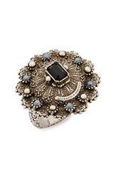 Alexander Mcqueen Women's Jeweled Ring Silver