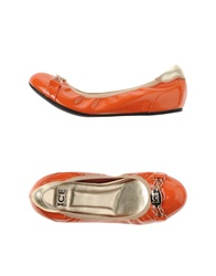 Ice Iceberg Ballet Flats Orange
