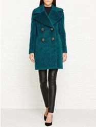 By Malene Birger Finete Textured Wool Coat Teal