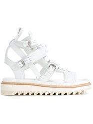 Les Hommes Buckled Sandals White