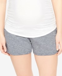 Motherhood Maternity French Terry Shorts Grey