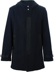 Dondup Hooded Coat Blue
