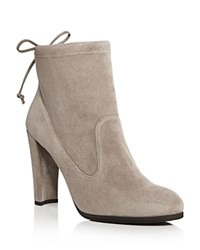 Stuart Weitzman Mitten Ankle Tie High Heel Booties Topo Brown