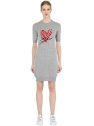 Love Moschino Embroidered Wool Blend Knit Dress