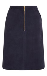 Manoush Leather Shift Skirt Blue