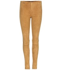 Polo Ralph Lauren Leland Suede Leggings Brown