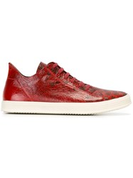 Rick Owens Lace Up Sneakers Red