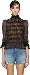 Marc By Marc Jacobs Black Cherry Peplum Blouse