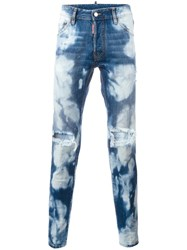 Dsquared2 Cool Guy Bleached Wash Jeans Blue
