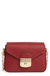 Longchamp Small Le Pliage Heritage Leather Crossbody Bag Red Red Lacquer