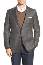 Hickey Freeman 'Beacon' Classic Fit Check Wool And Cashmere Sport Coat Gray