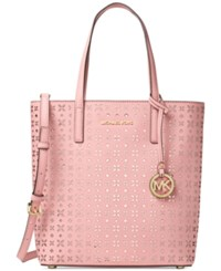Michael Kors Hayley Medium North South Top Zip Tote Blossom Ballet