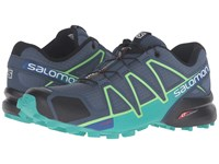 Salomon Speedcross 4 Slateblue Spa Blue Fresh Green Women's Shoes