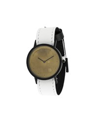 South Lane Avant Exposed Gold Watch Calf Leather Stainless Steel White