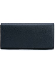 Valextra Travel Wallet Men Calf Leather One Size Blue