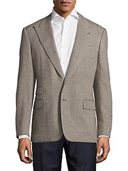 Ralph Lauren Russian Twill Wool Jacket Dark Smoke Grey