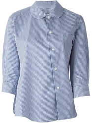 Comme Des Garcons Comme Des Garcons Striped Peter Pan Collar Shirt Blue