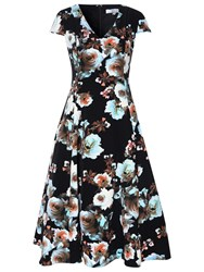 True Decadence Floral Prom Dress Black