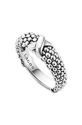 Women's Lagos 'Signature Caviar' Ring Sterling Silver