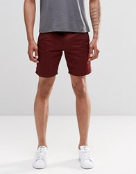 New Look Chino Shorts In Rust Rust Red