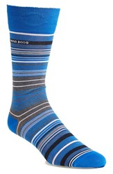 Men's Boss Stripe Socks Blue Bright Blue