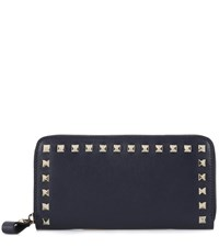 Valentino Garavani Rockstud Leather Wallet Blue