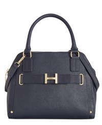 Tommy Hilfiger Th Belted Textured Leather Satchel