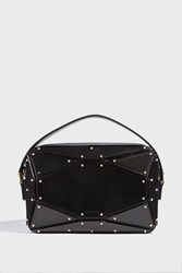 Elie Saab Radiant Leather Clutch Black