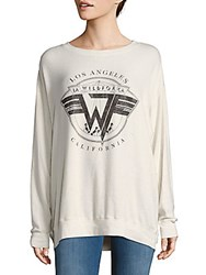 Wildfox Couture Graphic Print Drop Shoulder Tee Alabaster