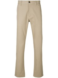 Msgm Straight Fit Trousers Nude And Neutrals