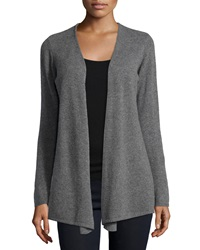 Minnie Rose Cashmere Open Front Duster Cardigan Gray Flannel