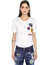 Dsquared Embroidered Cotton Jersey T Shirt